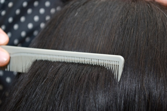 Hair breakage is most notable on your comb