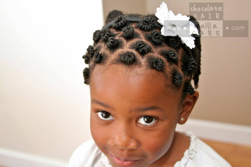 child's bantu knots